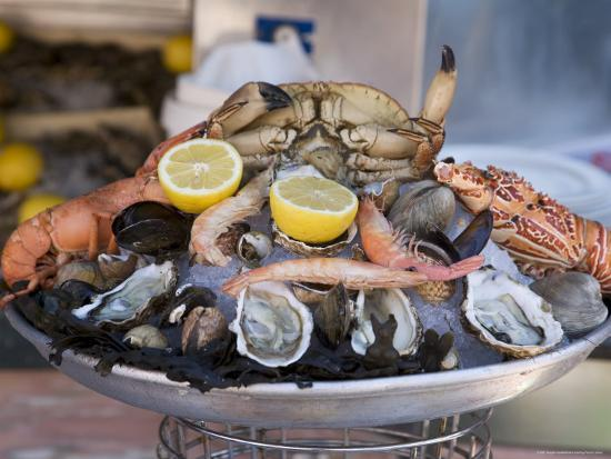 Seafood, Nice, Alpes Maritimes, Provence, Cote d'Azur, French Riviera, France-Angelo Cavalli-Photographic Print
