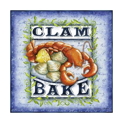 Seafood Sign III-Sydney Wright-Art Print