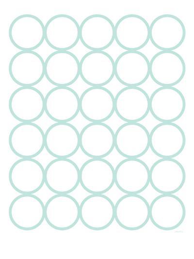 Seagreen Circles-Avalisa-Art Print