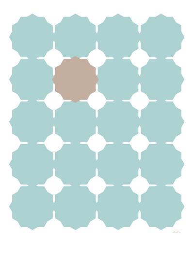 Seagreen Taupe Cutout-Avalisa-Art Print