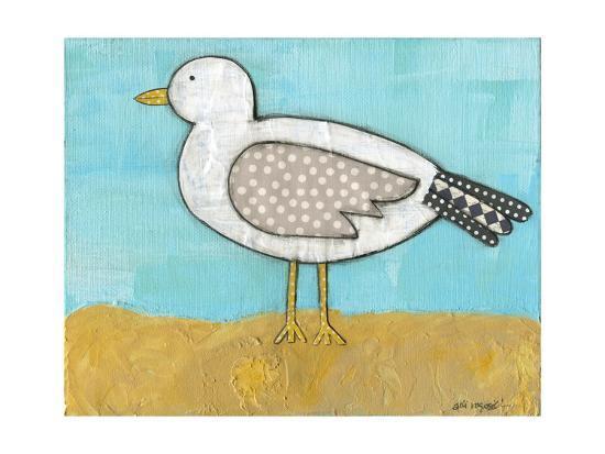 Seagull by the Seashore-Alli Rogosich-Art Print
