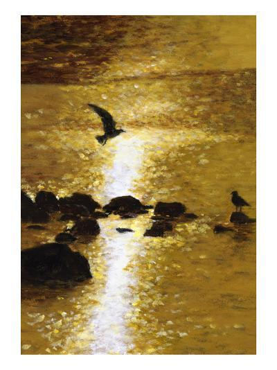 Seagull Flying over Water--Art Print