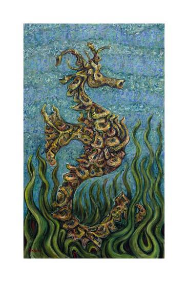 Seahorse   Seagrass, 2014-Xavier Cortada-Giclee Print