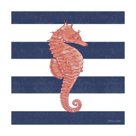 Seahorse Stripe-Stephanie Marrott-Giclee Print