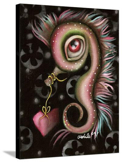 Seahorse with heart-Abril Andrade-Stretched Canvas Print