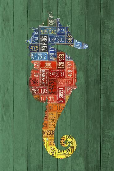 Seahorse-Design Turnpike-Giclee Print