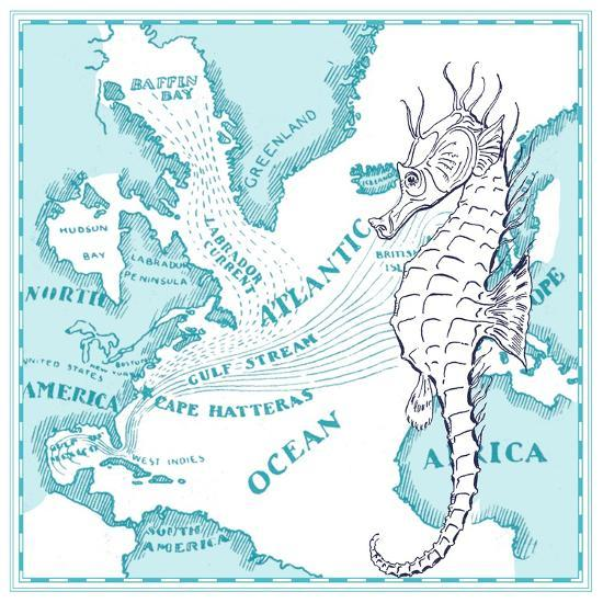 Seahorse-The Saturday Evening Post-Giclee Print