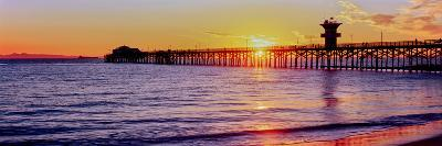 Seal Beach Pier at Sunset, Seal Beach, Orange County, California, USA--Photographic Print