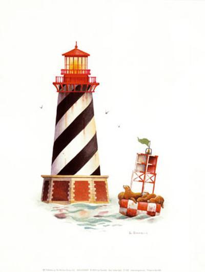 Seal Harbor Light-Lisa Danielle-Art Print
