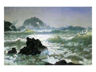 Seal Rock, California-Albert Bierstadt-Premium Giclee Print