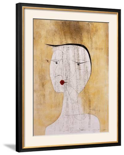 Sealed Woman-Paul Klee-Framed Art Print