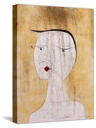 Sealed Woman-Paul Klee-Stretched Canvas Print