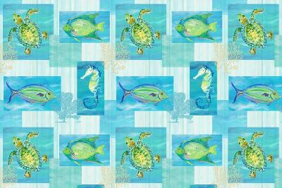 Sealife Rectangle V-Julie DeRice-Art Print