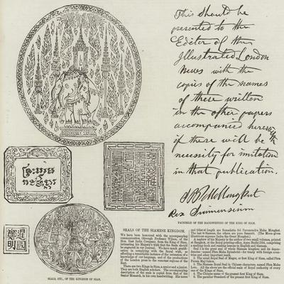 Seals of the Siamese Kingdom--Giclee Print
