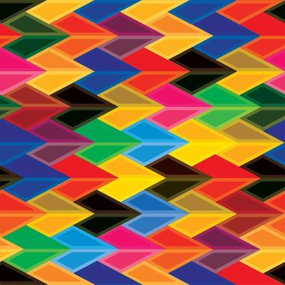 Seamless Abstract Colorful Of Arrows And Dart Shapes-smarnad-Art Print