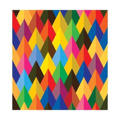 Seamless Abstract Colorful Of Cones Or Triangle Shapes-smarnad-Art Print