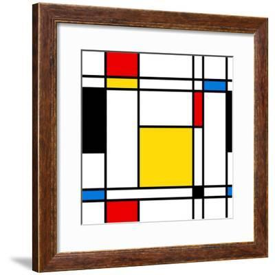 Seamless Abstract Geometric Colorful For Continuous Replicate-alexfiodorov-Framed Premium Giclee Print