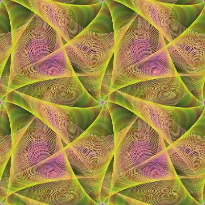 Seamless Abstract Veil Fractal Design-David Zydd-Photographic Print