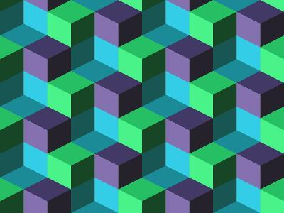 Seamless Background with Cubes- emuemu-Art Print