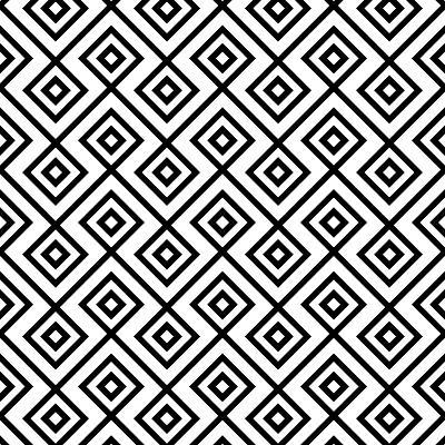 Seamless Black And White Diamonte- viviv-Art Print