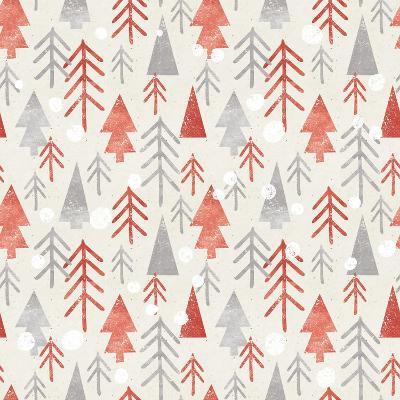 Seamless Christmas Pattern on Paper Texture. Winter Background.- Irtsya-Art Print