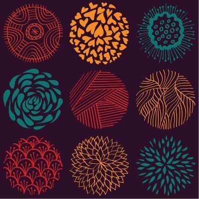 Seamless Circle Pattern- Lunarus-Art Print