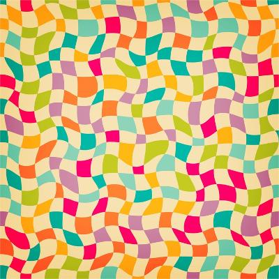 Seamless Color Mosaic Background. Vector Illustration.-New Line-Art Print