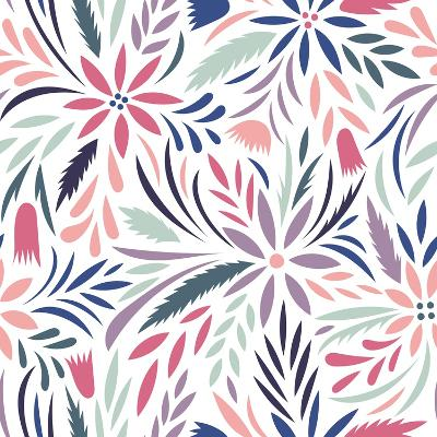 Seamless Floral Pattern. Vector Floral Background- tets-Art Print