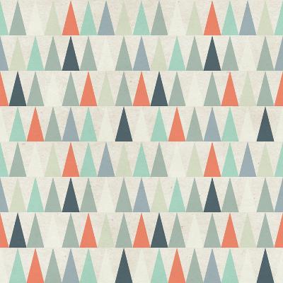 Seamless Geometric Pattern on Paper Texture. Winter/Fall Forest Background- Irtsya-Art Print