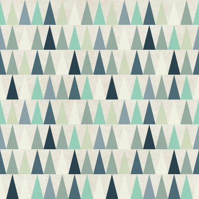 Seamless Geometric Pattern on Paper Texture. Winter/Fall Forest Background- Irtsya-Art Print