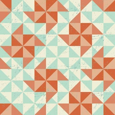 Seamless Geometric Pattern With Origami Elements-incomible-Art Print