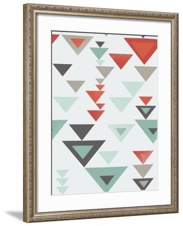 Seamless Geometric Triangle Pattern-Ms.Moloko-Framed Art Print