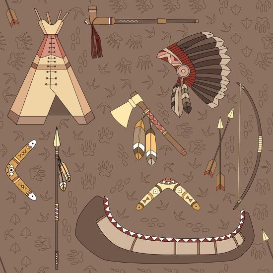 Seamless Indian Pattern-destra-Art Print
