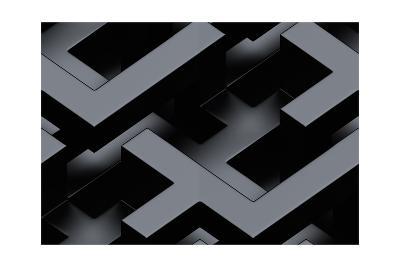 Seamless Metallic 3D Background-monarx3d-Art Print