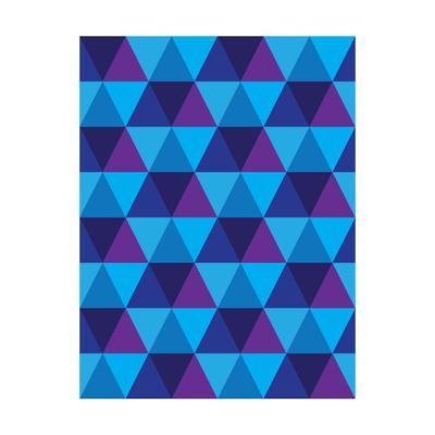 Seamless Of Triangle And Diamond Geometric Shapes-smarnad-Art Print
