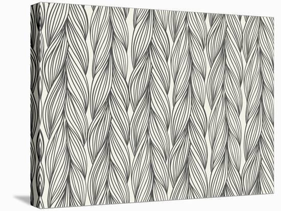Seamless Pattern Imitation with Braids-tukkki-Stretched Canvas Print