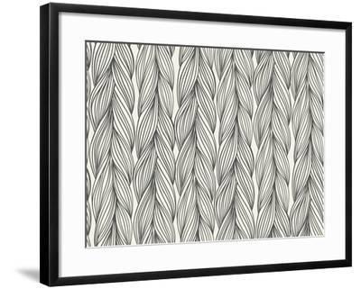 Seamless Pattern Imitation with Braids-tukkki-Framed Art Print