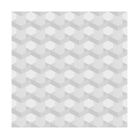 Seamless Texture of Grey to White Squares-Little_cuckoo-Art Print