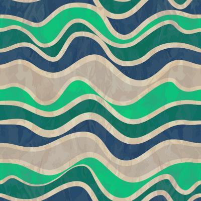Seamless Vector Waves Texture-ivgroznii-Art Print