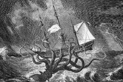 Seamonsters, the Kraken--Giclee Print