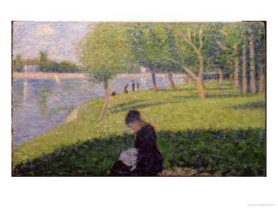 Seamstress, Grande Jatte, A Sunday Afternoon on the Island of La Grande Jatte, c.1884-6-Georges Seurat-Giclee Print