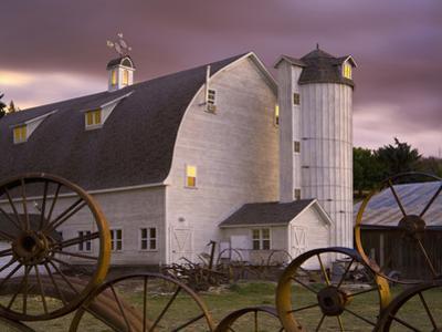 Farm Barn and Silo, Palouse, Washington, USA by Sean Bagshaw