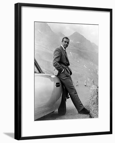 """Sean Connery. """"007, James Bond: Goldfinger"""" 1964, """"Goldfinger"""" Directed by Guy Hamilton--Framed Art Print"""
