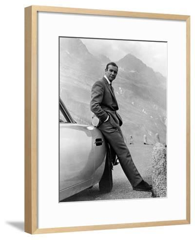 "Sean Connery. ""007, James Bond: Goldfinger"" 1964, ""Goldfinger"" Directed by Guy Hamilton--Framed Art Print"