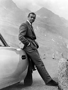 "Sean Connery. ""007, James Bond: Goldfinger"" 1964, ""Goldfinger"" Directed by Guy Hamilton"