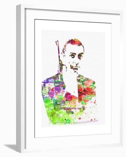 Sean Connery-NaxArt-Framed Art Print