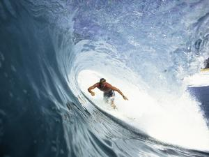 Surfing in the Tube by Sean Davey