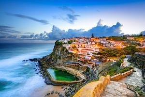 Azenhas Do Mar, Portugal Coastal Town by Sean Pavone