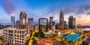 Charlotte, North Carolina, USA Uptown Skyline Panorama by Sean Pavone