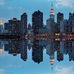 Dramatic Skyline of Manhattan-New York by Sean Pavone